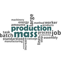 Word cloud - mass production vector