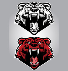 angry grizzly bear mascot vector image