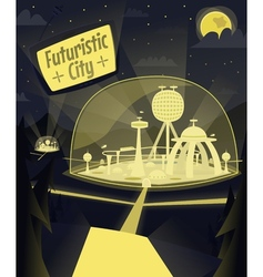 Night futuristic city vector