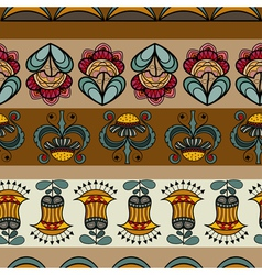 Seamless pattern with images of flowers vector