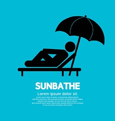 Sunbathe black graphic vector