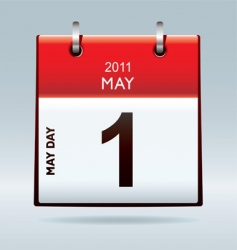 may day calendar icon vector image