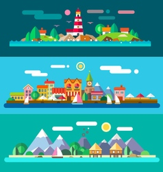 Landscapes by the sea vector