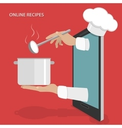 Online dishes recipes concept vector