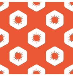 Orange hexagon starburst pattern vector
