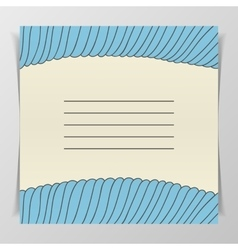 Striped blue wave cover for notebook vector