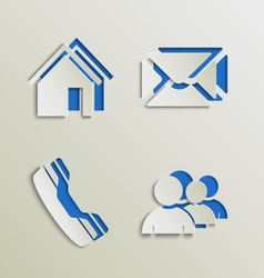 Web elements icons cut out template vector