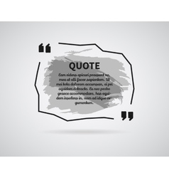 Quote blank templates watercolor ink splash vector