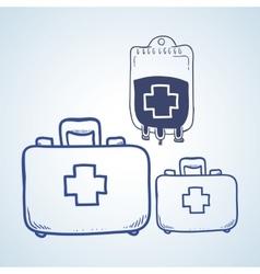 Medical care design sketch icon flat vector
