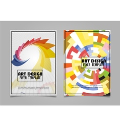 Book cover layout design abstract art cover layout vector