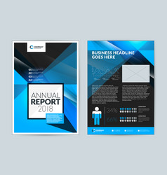Annual report cover design template flyer mockup vector