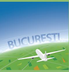 bucharest flight destination vector image vector image