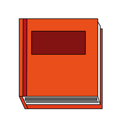 Colorful graphic top view closed book vector