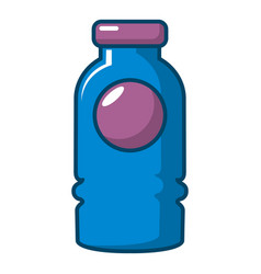 Cosmetic bottle icon cartoon style vector