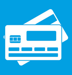 Credit card icon white vector