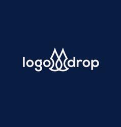 drop logo vector image vector image