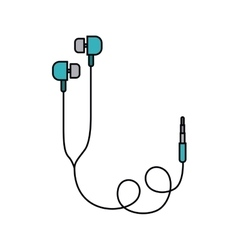 earphones isolated icon design vector image vector image