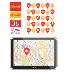 Global Positioning System navigation Infographic vector image