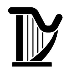 harp icon black sign on vector image vector image