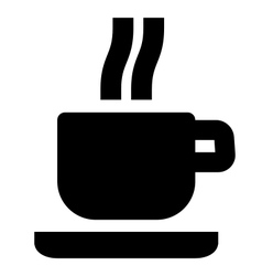 Hot beverage icon vector image