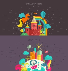 Imagination and creativity vector