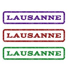 lausanne watermark stamp vector image vector image