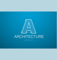 Logo template letter a in the style of a vector
