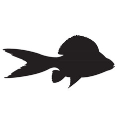 monochrome icon with fantastic fish vector image