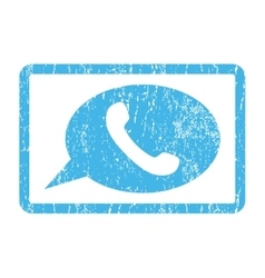 Phone Message Icon Rubber Stamp vector image vector image