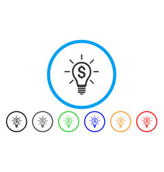 Profitable invention rounded icon vector
