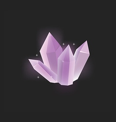 Purple crystal icon vector image