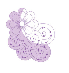 Silhouette beauty flowers with petals and vector
