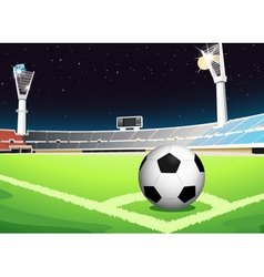 Soccer at night vector image