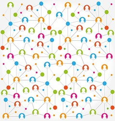 Social network internet chat community vector