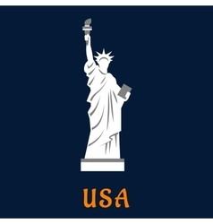 Statue of liberty travel landmark icon vector image