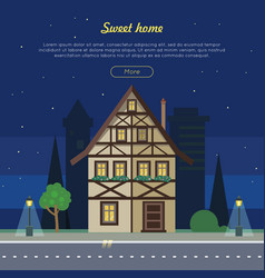 Sweet home flat web banner vector