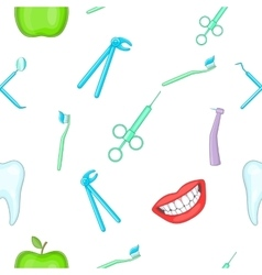 Teeth pattern cartoon style vector