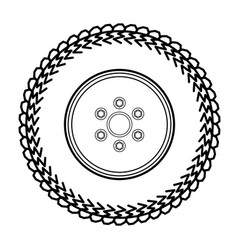 Tires and wheels vector