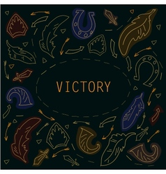 Victory frame for text in vintage stale vector