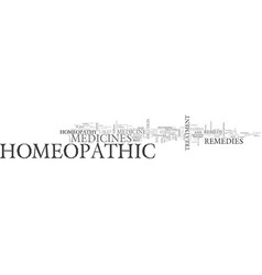 what is homeopathic medicine text word cloud vector image vector image