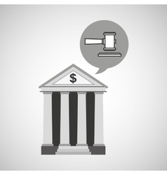 bank concept safe money justice icon vector image