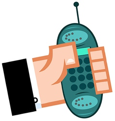 Business hand with cell phone vector