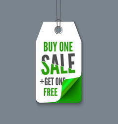 Promotion tag buy 1 get fre vector