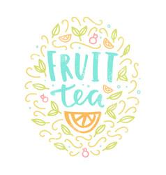 Fruit tea label vector