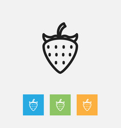 Of meal symbol on strawberry vector