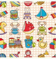 Child toy seamless pattern design element vector