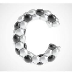 Soccer alphabet eps8 vector image