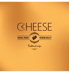Cheese vintage label design background vector