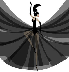 Ballerina in black vector