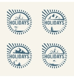 Travel logos vector